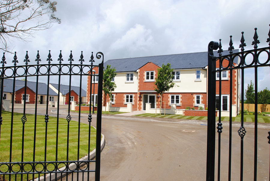 Gates with Tamar Apartments behind